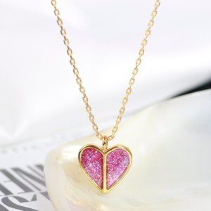 Kate Spade Shining Sequins Heart Necklace